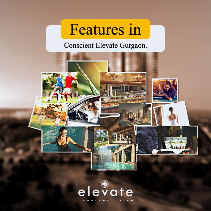 What are the features in Conscient Elevate Gurgaon?
